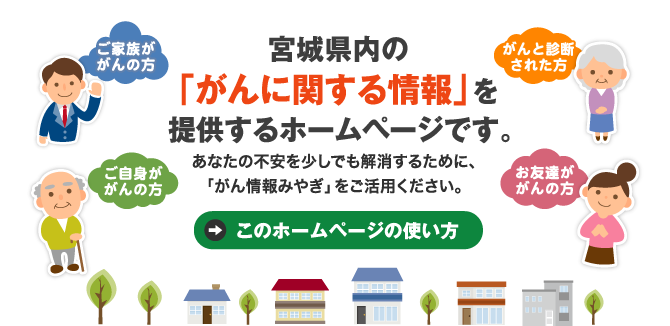 宮城県内の「がんに関する情報」を提供するホームページです。
